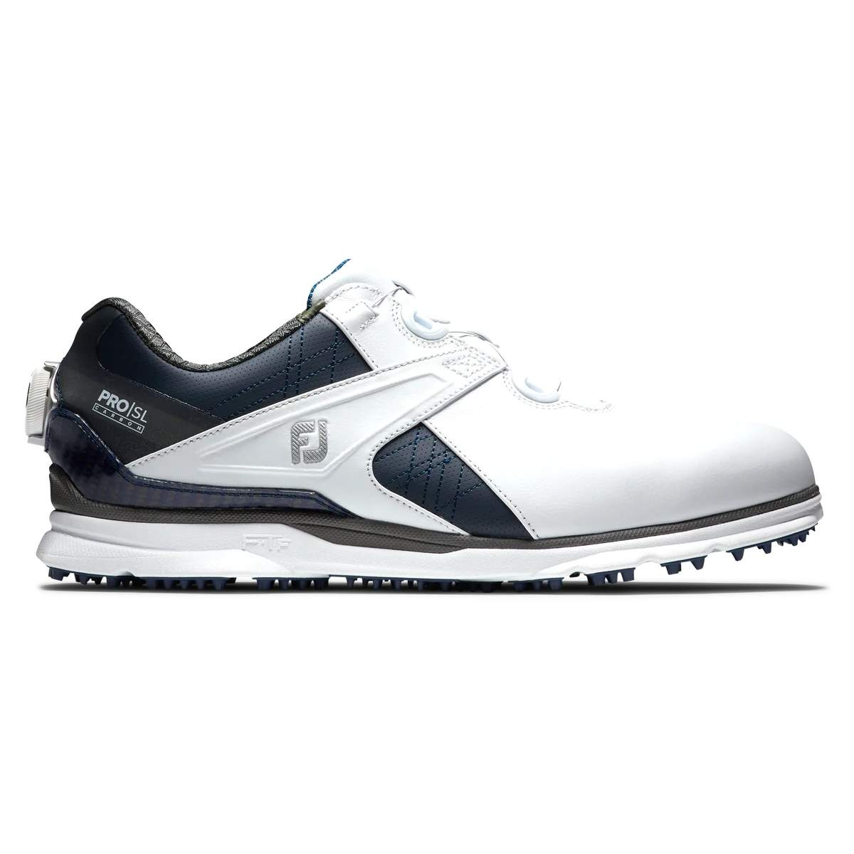 FootJoy Men's Pro|SL Carbon BOA Golf Shoe - White/Navy 53184