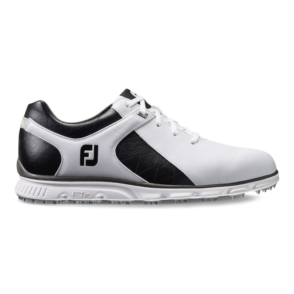 FootJoy Men's Pro/SL Spikeless Golf Shoe - White/Black Discontinued Style 53220