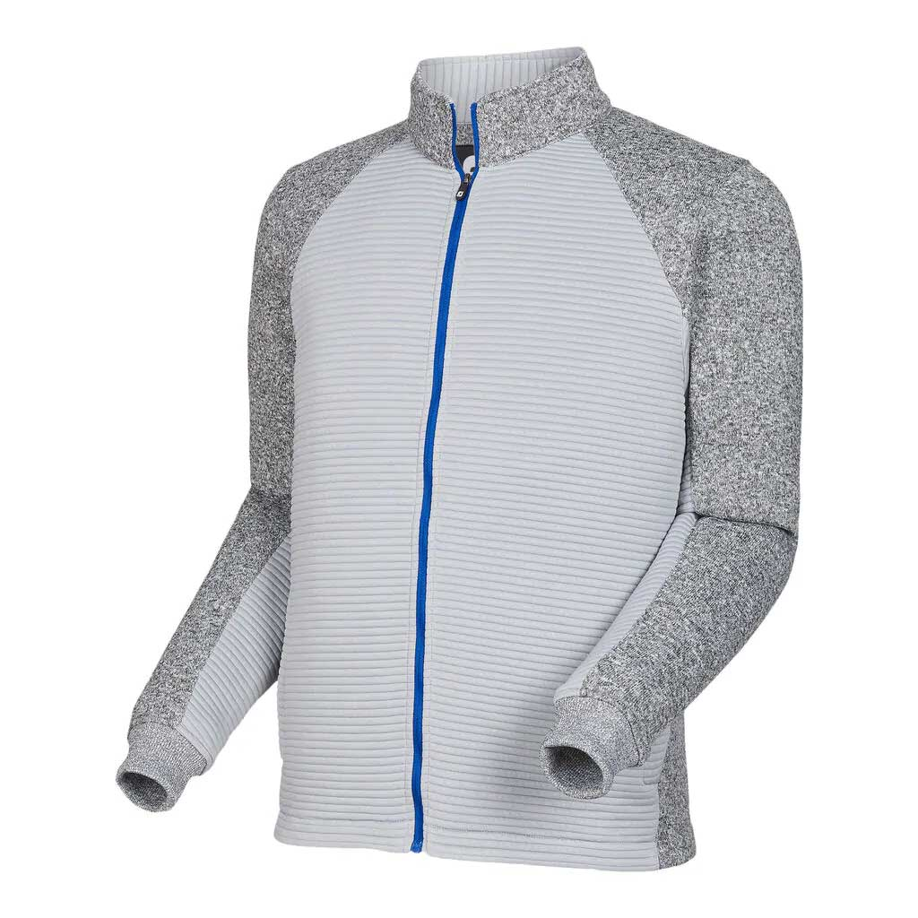 FootJoy Men's Ribbed Charcoal Sweater Fleece Jacket