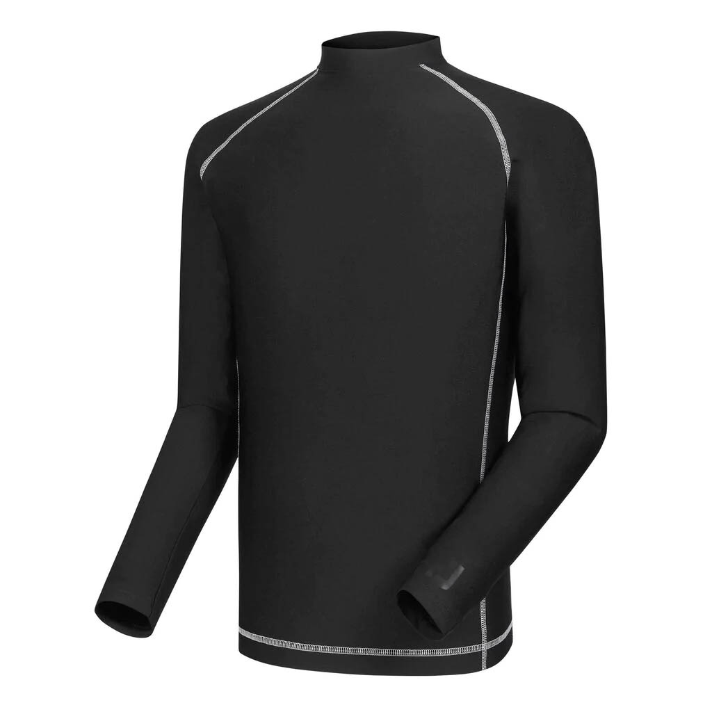 FootJoy Men's Thermal Base Layer Black Mock Turtleneck