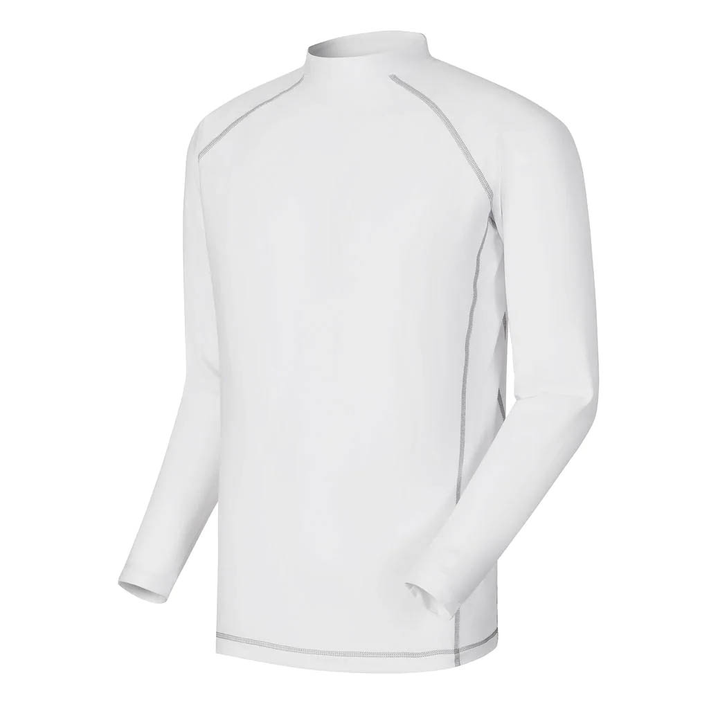 FootJoy Men's Thermal Base Layer White Mock Turtleneck