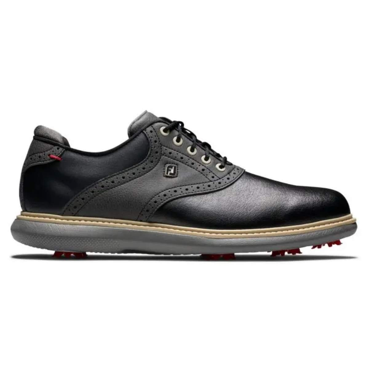 FootJoy Men's Traditions Golf Shoe -  Black 57904