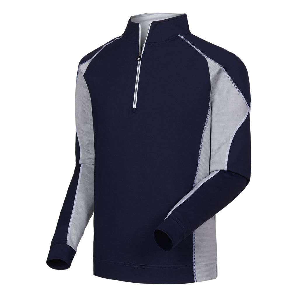 FootJoy Mixed Texture Half-Zip Navy Pullover