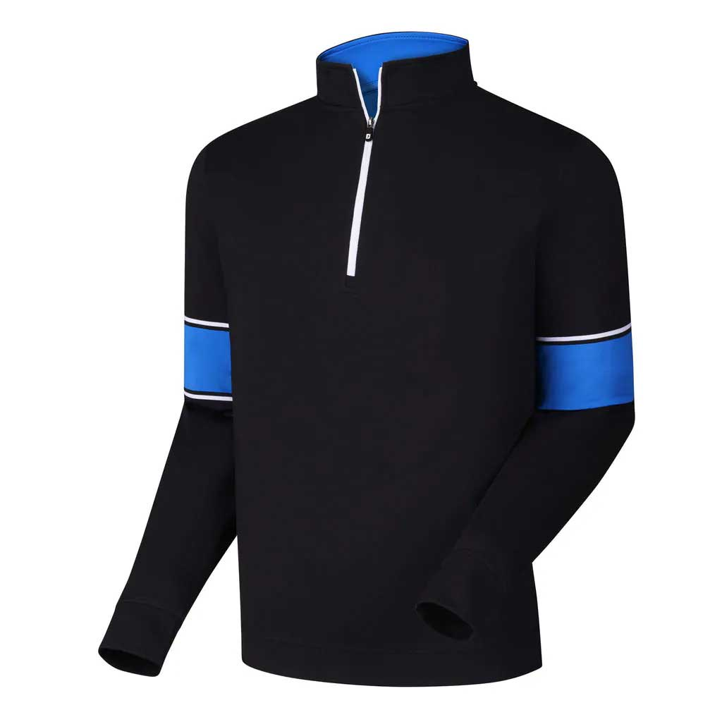 FootJoy Performance Half-Zip + Engineered Sleeves Black Pullover