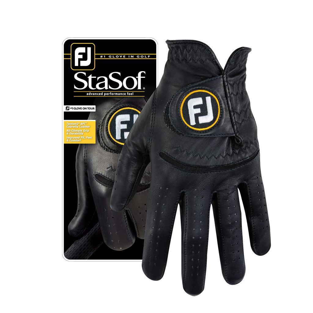 FootJoy StaSof Black Golf Glove - Men's Left Hand Regular