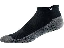FootJoy Techsof Tour Roll Tab Sock - Black