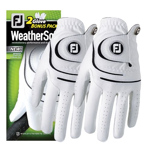 FootJoy WeatherSof 2Pack Golf Glove - Men's Left Hand Cadet