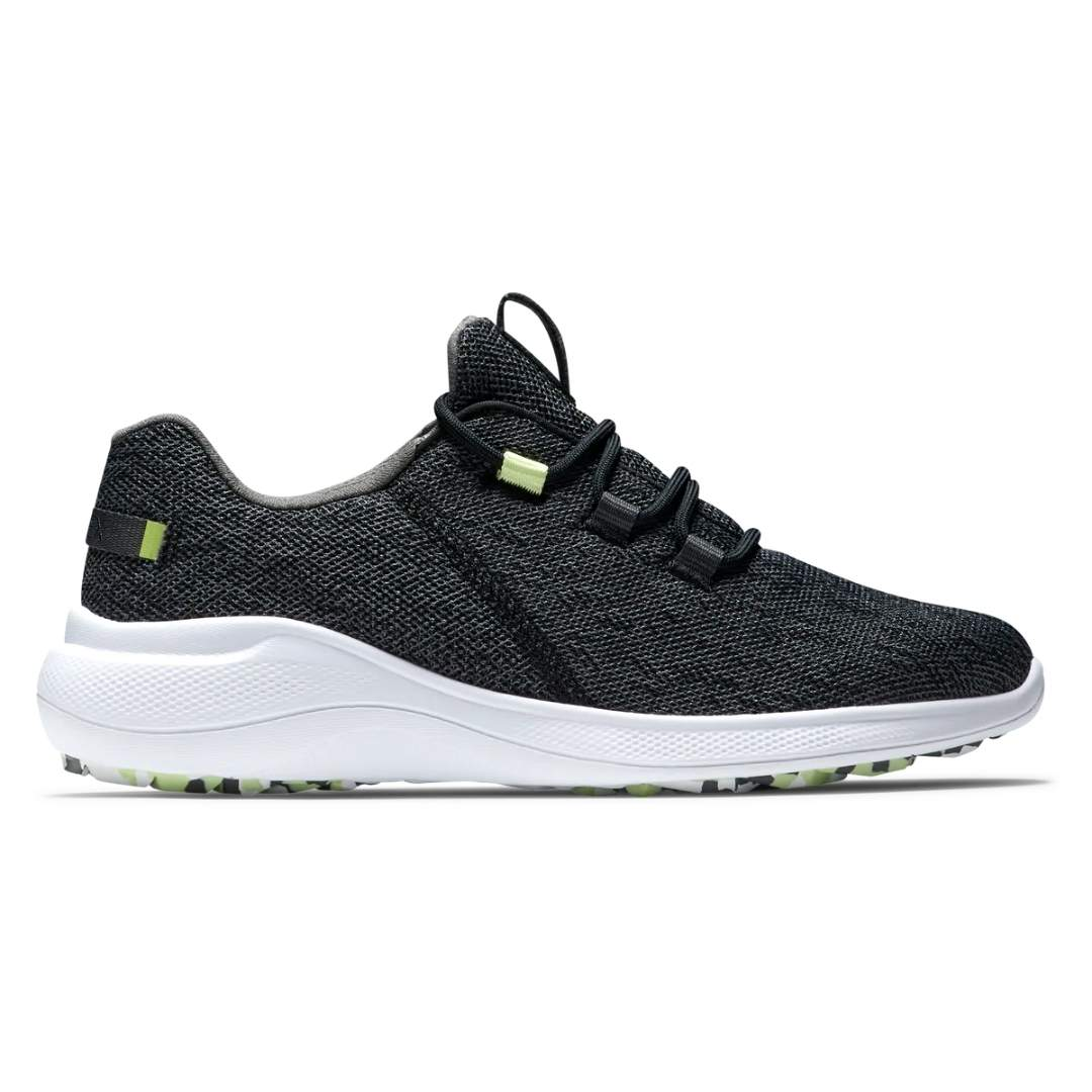 FootJoy Women's Flex Coastal Black/Lime Golf Shoe - Style 95761