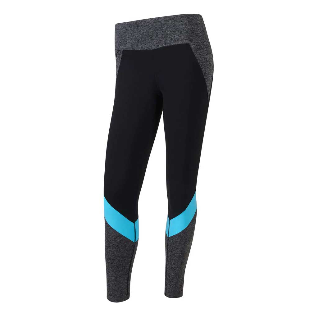 FootJoy Women's Multi-Color Black/Charcoal/Bluefish Leggings
