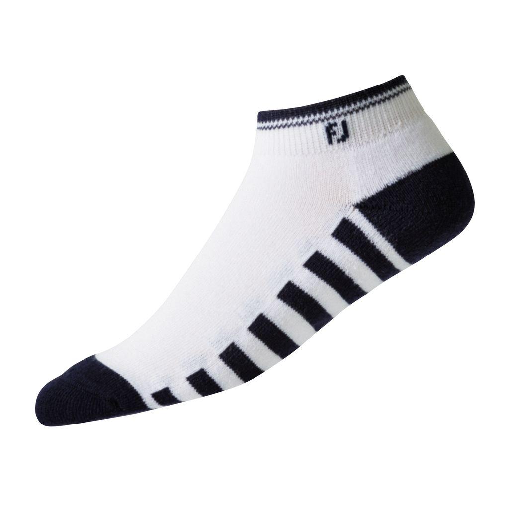 FootJoy Womens ProDry Sporlet Golf Sock White/Black