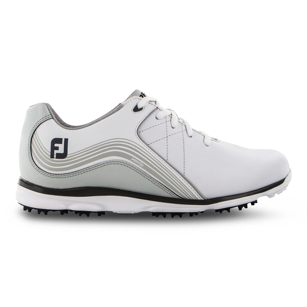 FootJoy Women's Pro/SL White/Charcoal Golf Shoe - Previous Season #98100
