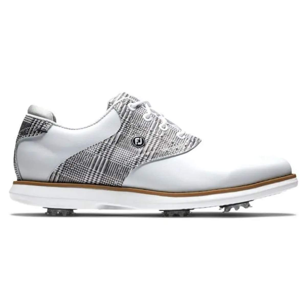 FootJoy Women's Traditions Golf Shoe - White/Black 97904