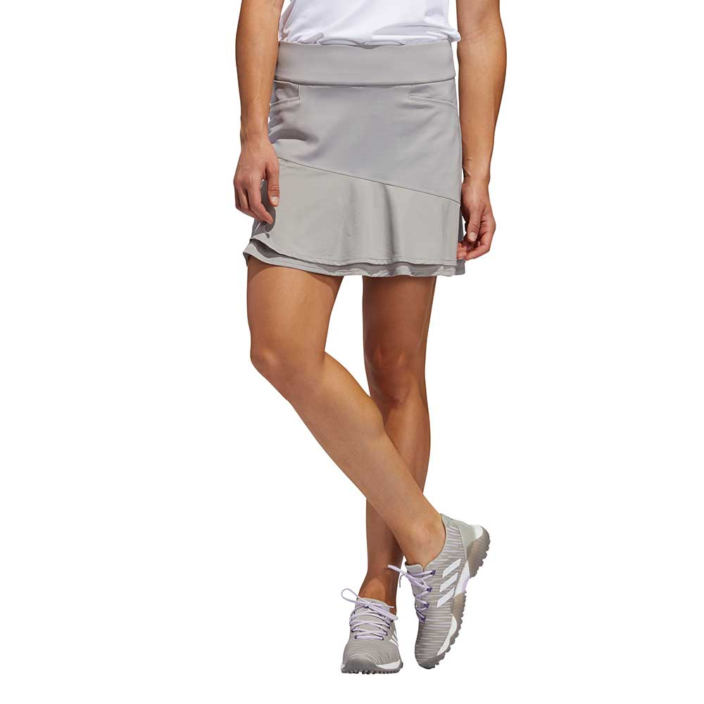 Adidas Women's Ultimate365 Knit Frill Grey Skort