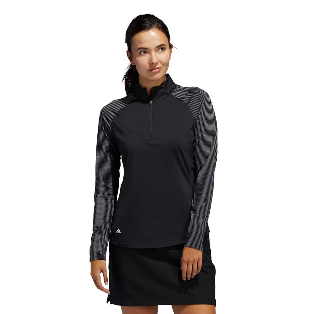 Adidas Women's Solid UV Long Sleeve Black Pullover