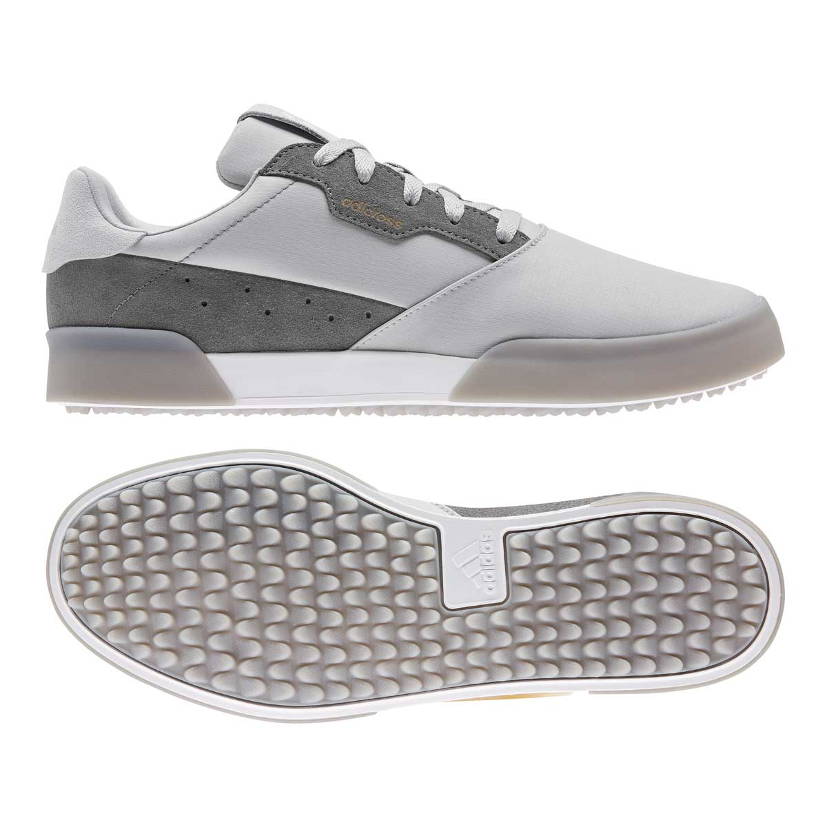 Adidas Men's Adicross Retro Grey/White Spikeless Golf Shoe