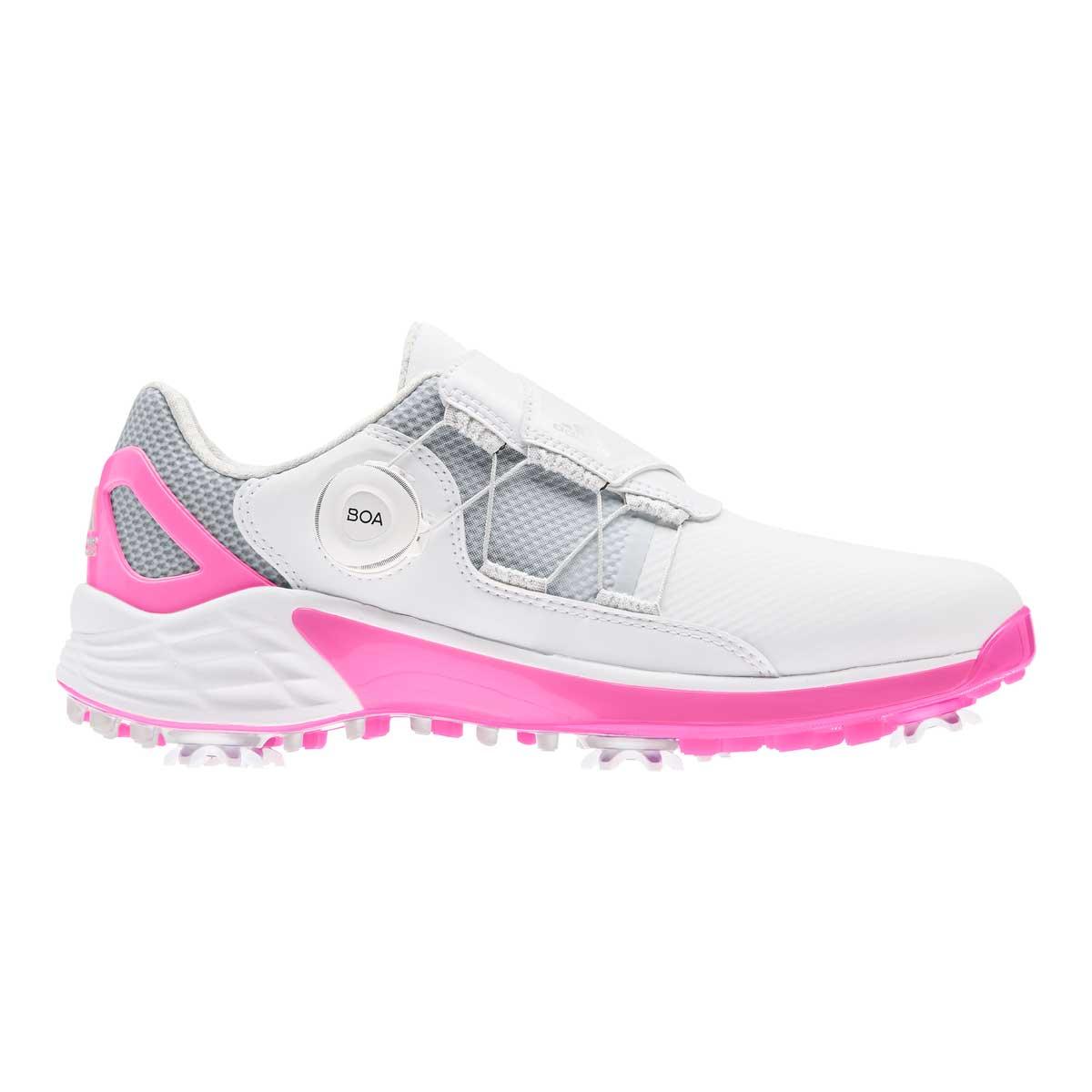 Adidas Women's ZG21 BOA White/Screaming Pink Golf Shoe