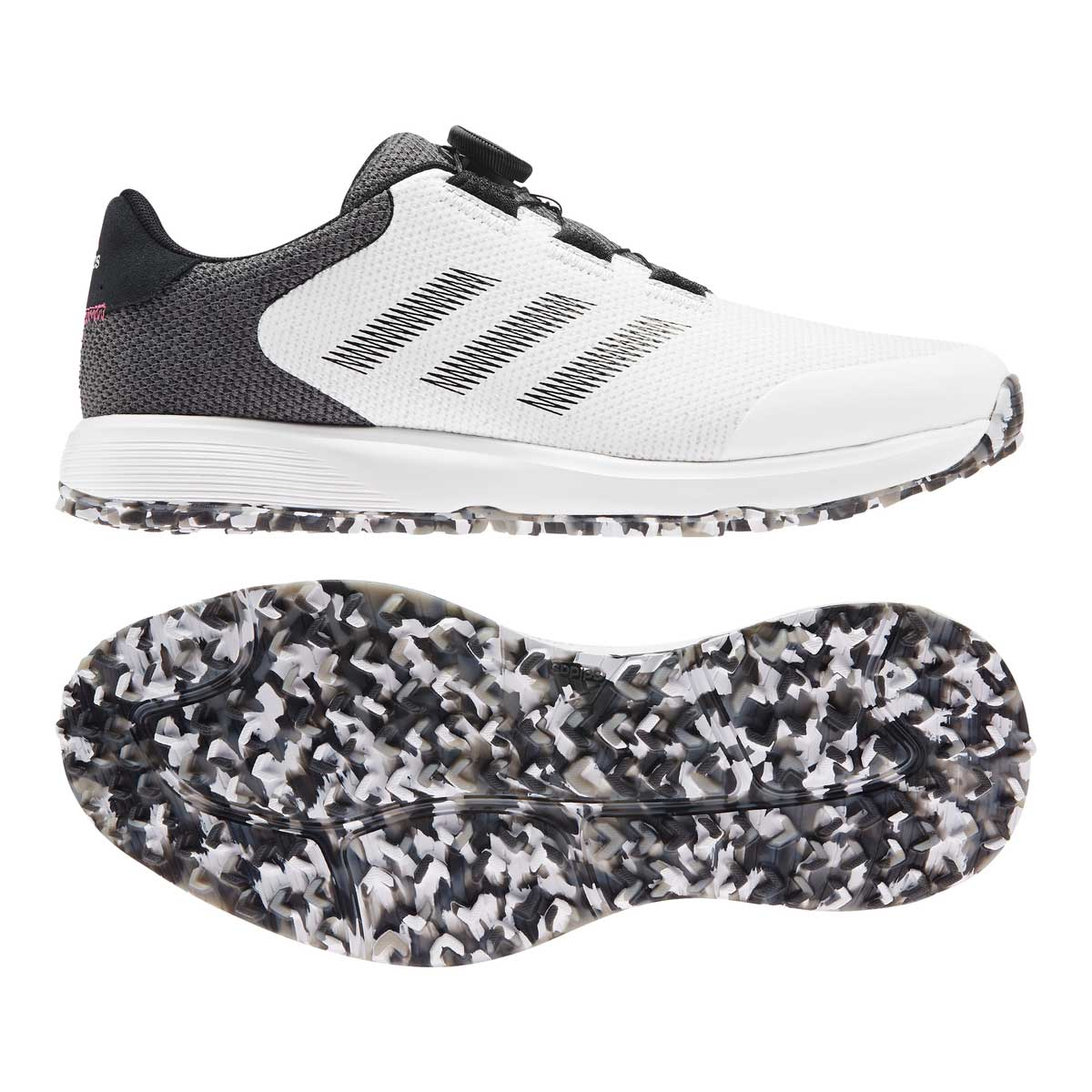 Adidas Men's S2G BOA White/Black Golf Shoe