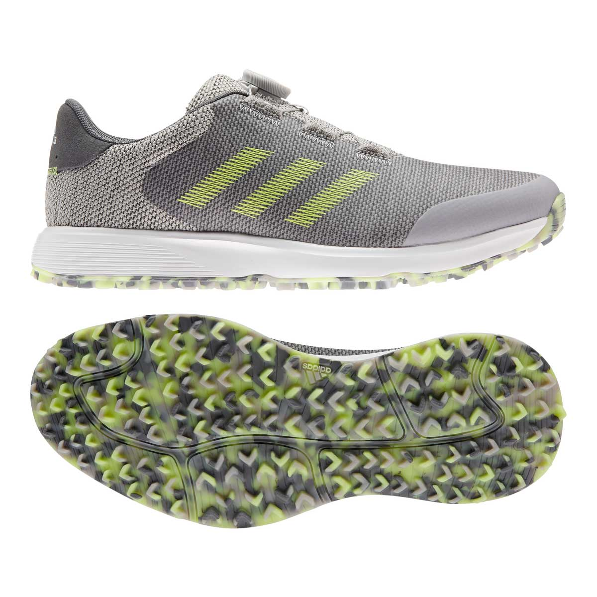 Adidas Men's S2G BOA Grey/Yellow Golf Shoe