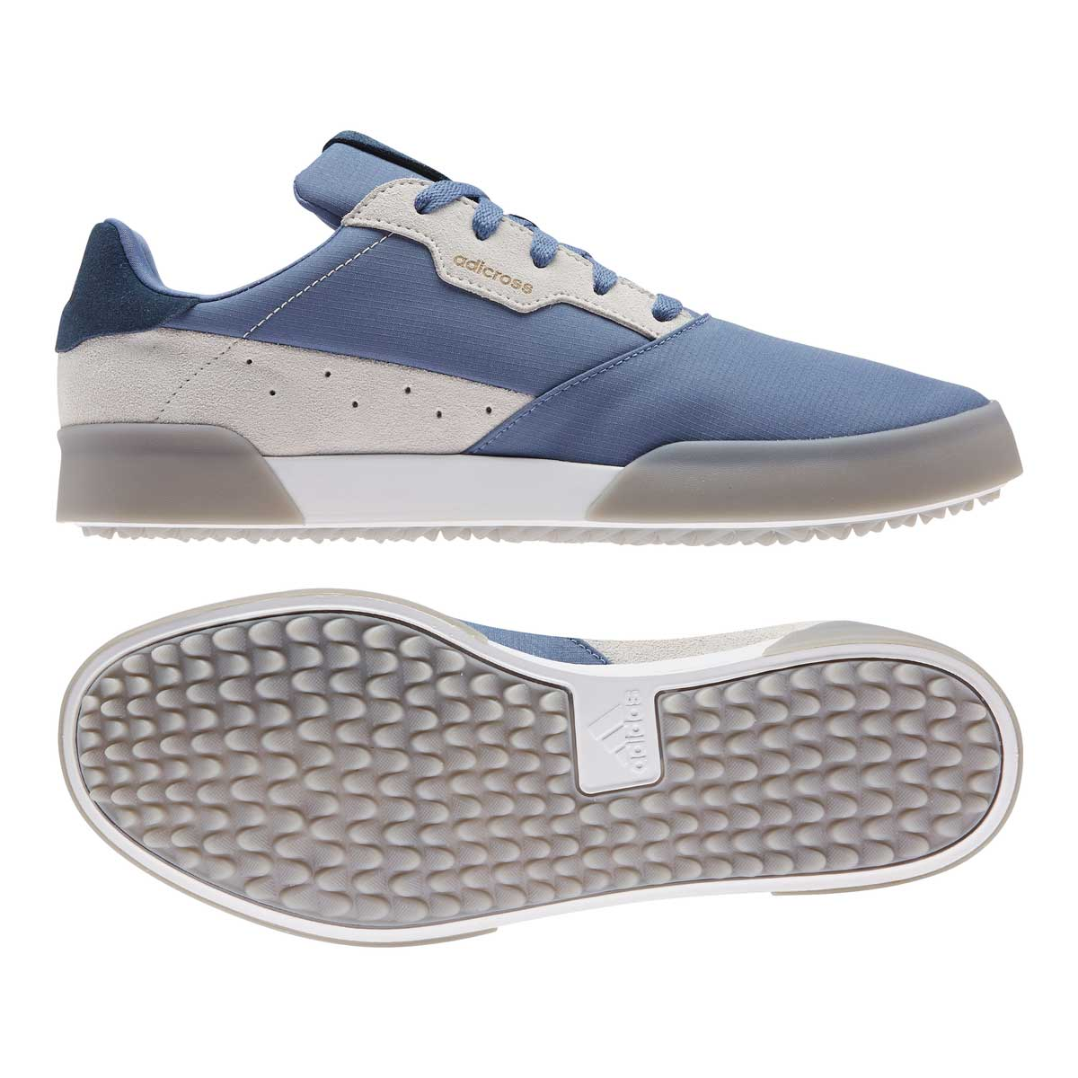 Adidas Men's Adicross Retro Crew Blue Spikeless Golf Shoe