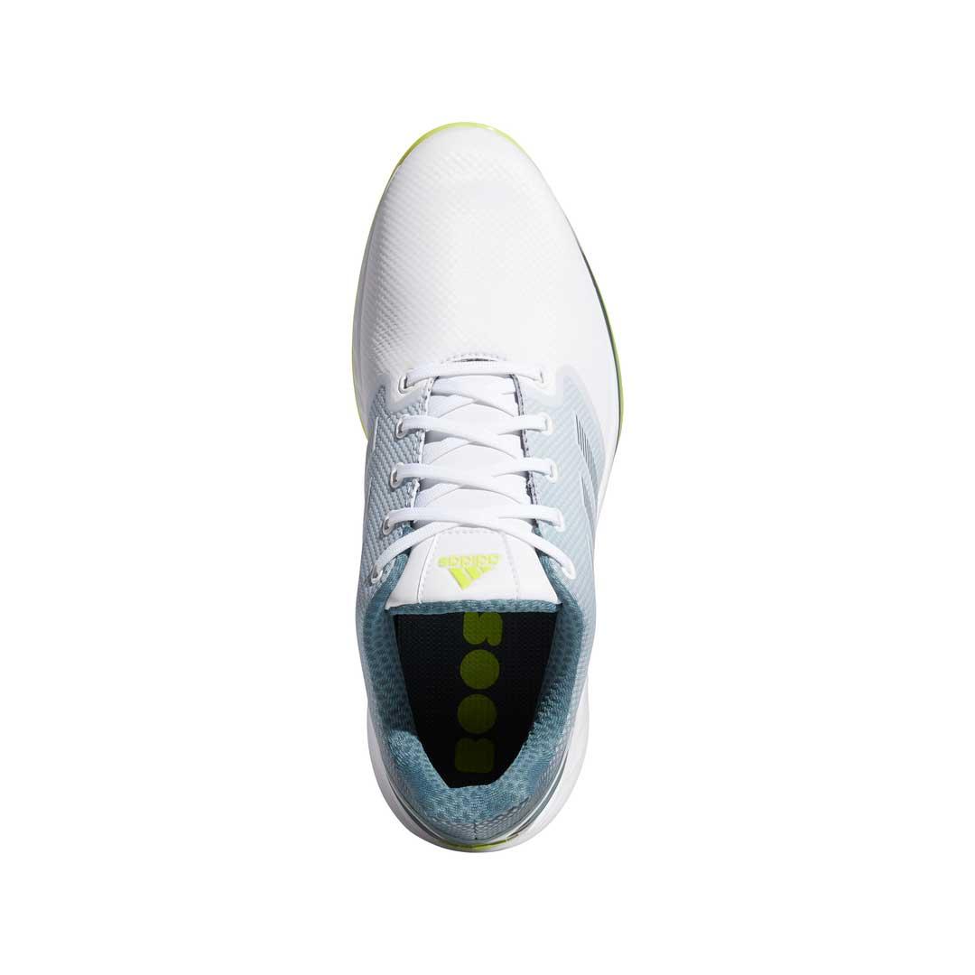 Adidas Men's ZG21 White/Acid Yellow Golf Shoe