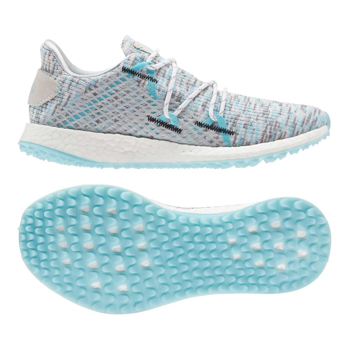 Adidas Women's Crossknit DPR White/Hazy Sky Spikeless Golf Shoe