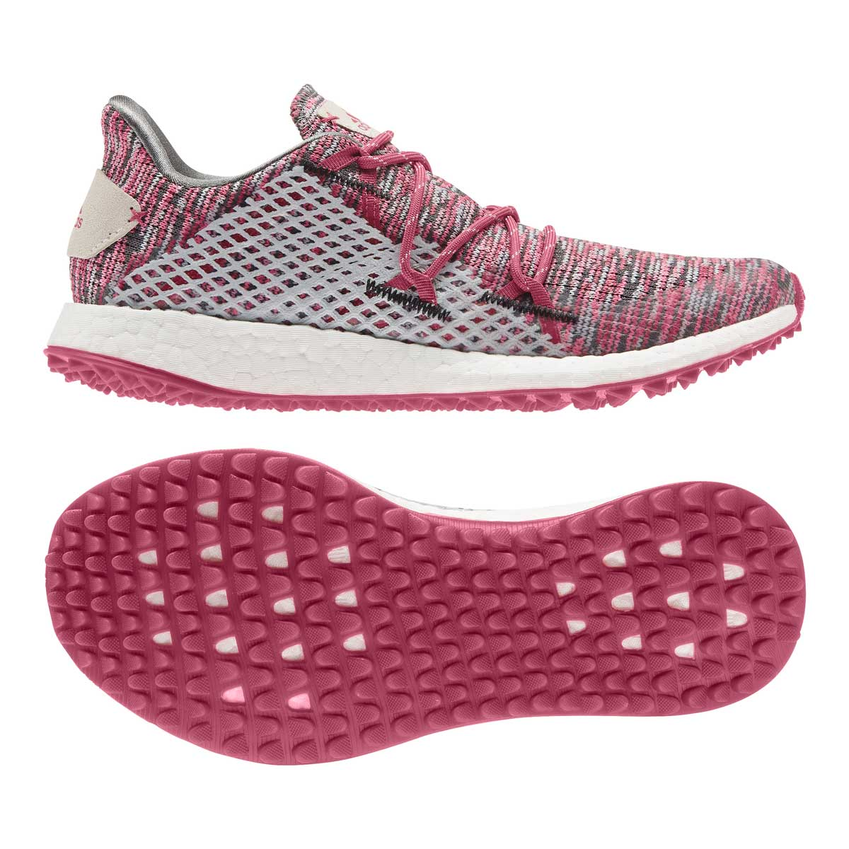 Adidas Women's Crossknit DPR Grey/Wild Pink Spikeless Golf Shoe