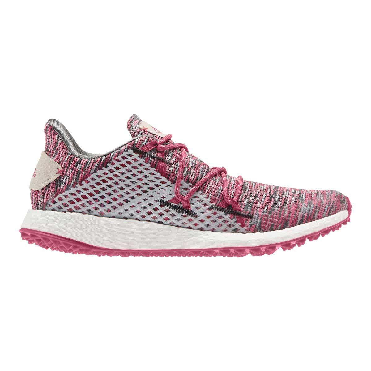 Adidas Women's Crossknit DPR Grey/Wild Pink Spikeless Golf Shoe