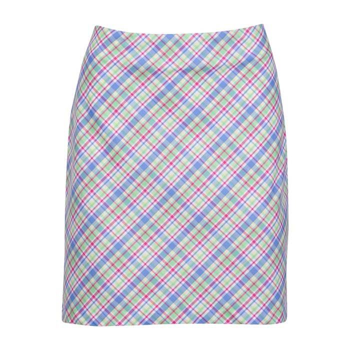 Greg Norman Womens Bias Preppy Plaid Skort