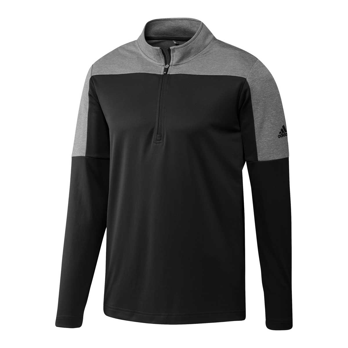 Adidas Men's UPF 1/4 Zip Lightweight Black Melange Pullover