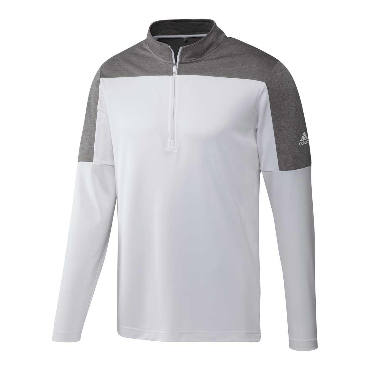 Adidas Men's UPF 1/4 Zip Lightweight White Pullover