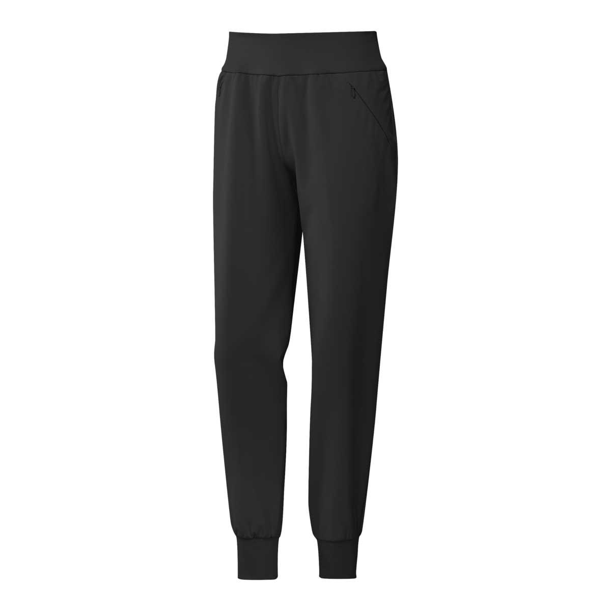 Adidas Women's Black Woven Jogger Pant