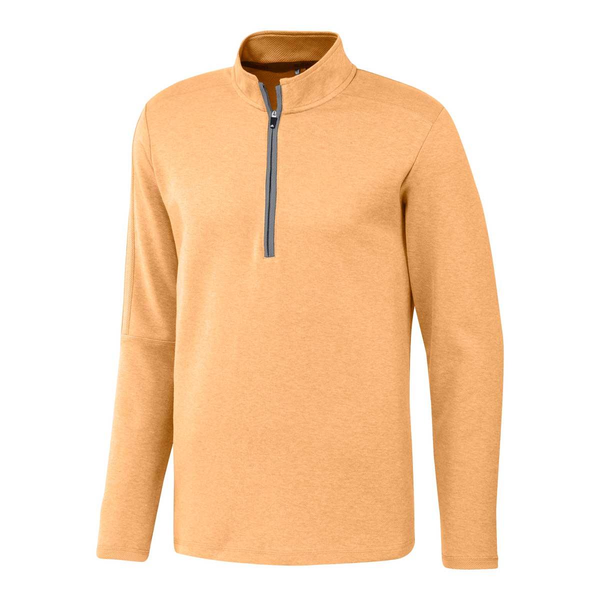 Adidas Men's 3-Stripe 1/4 Zip Acid Orange Layering Pullover