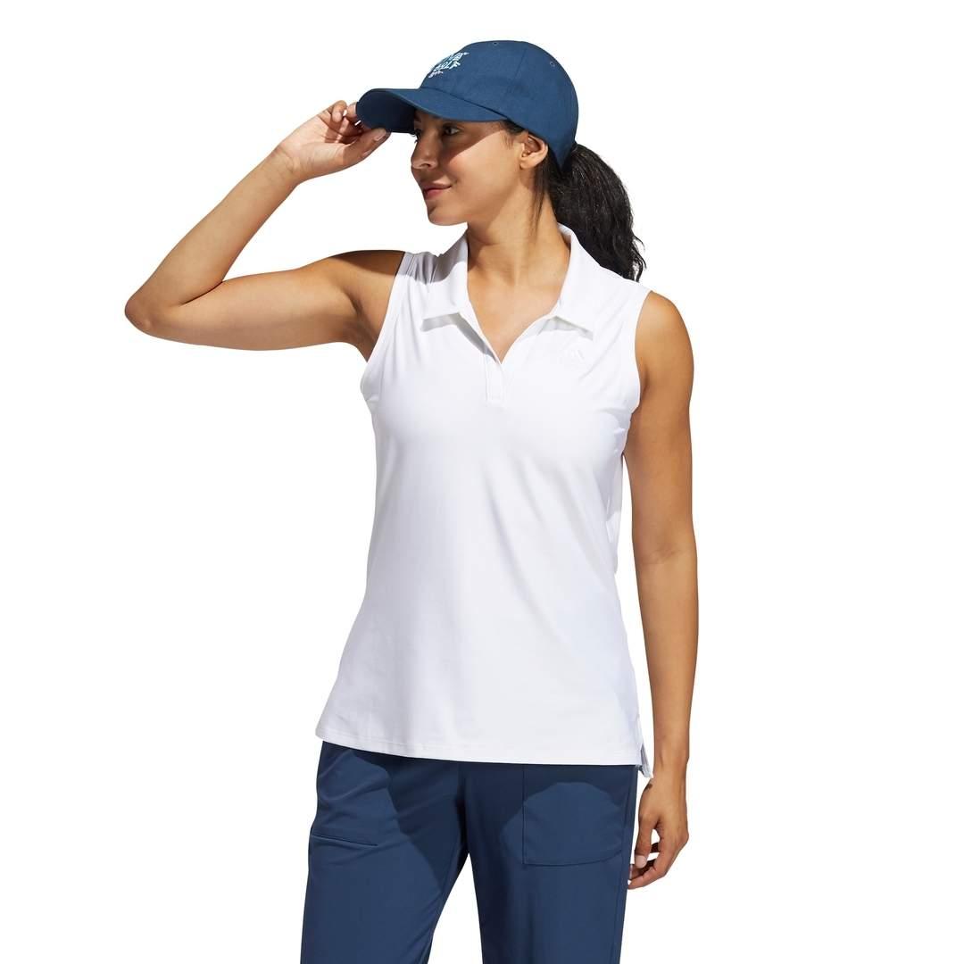 Adidas Women's Go-To Sleeveless White Polo