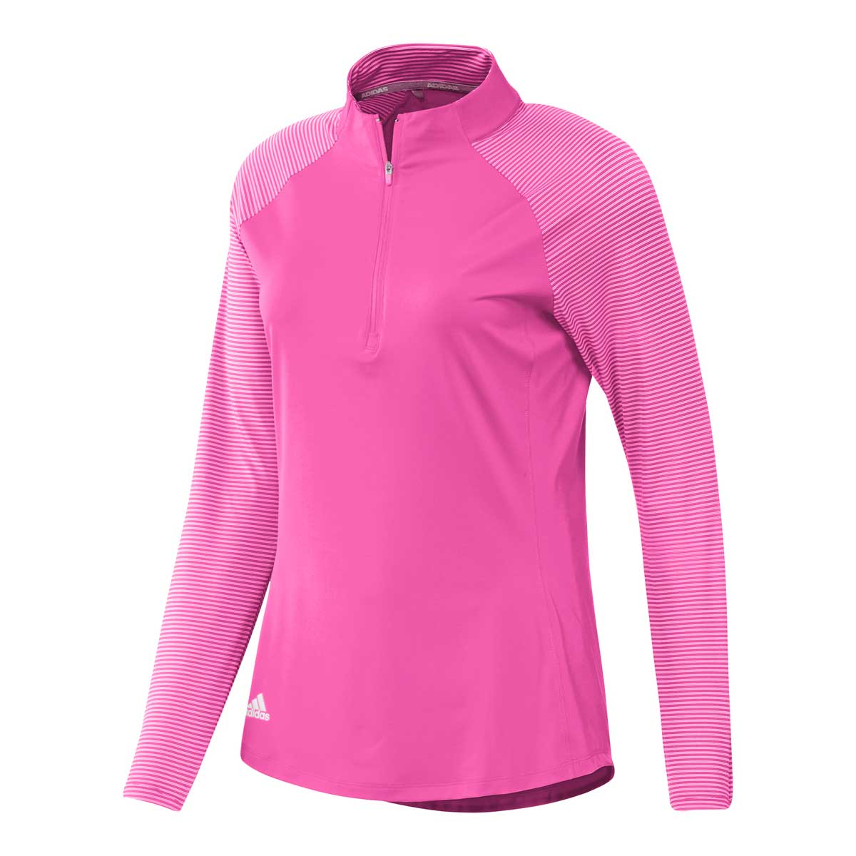 Adidas Women's UPF 50 Solid Screaming Pink Pullover