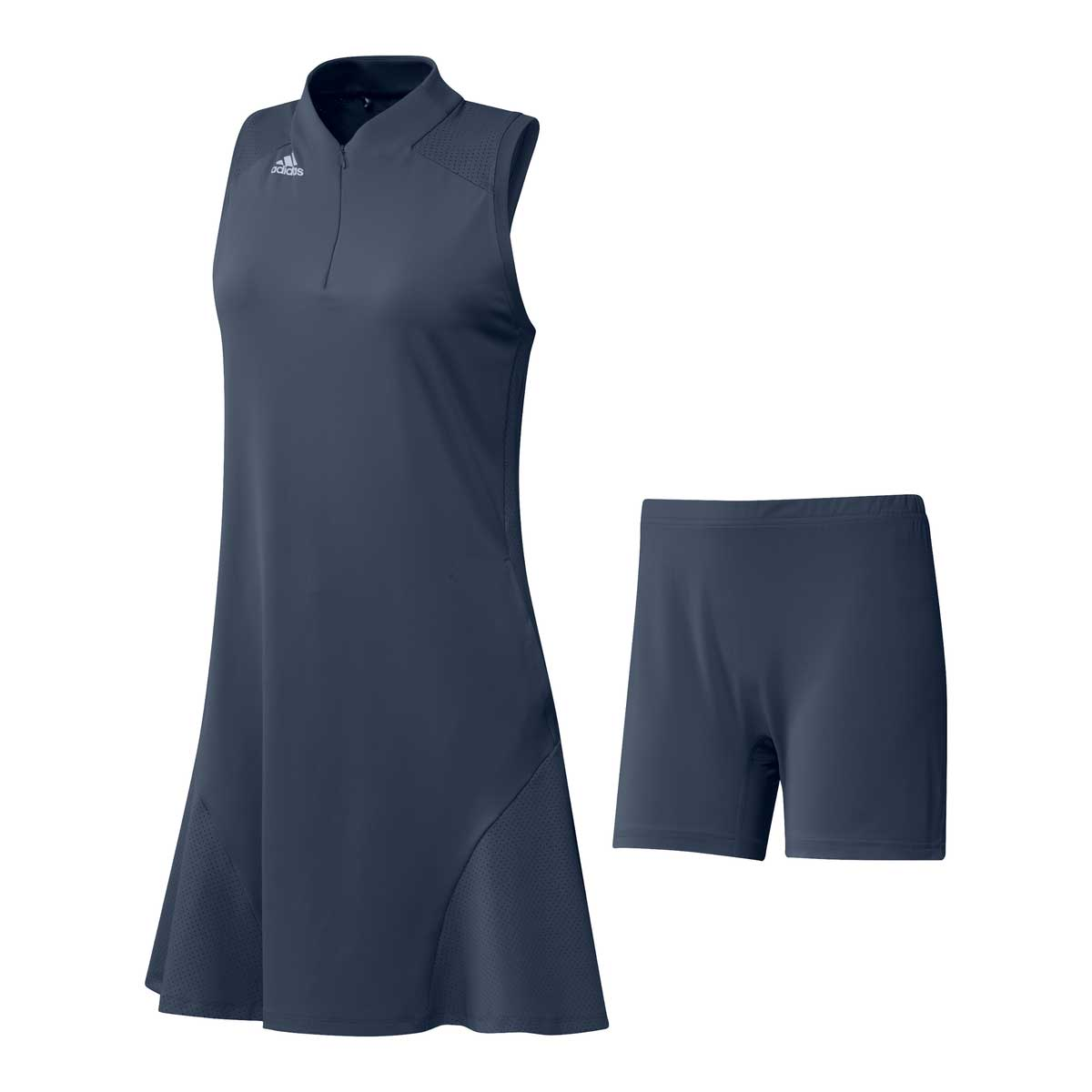 Adidas Women's Aeroready Sport Performance Sleeveless Crew Navy Dress