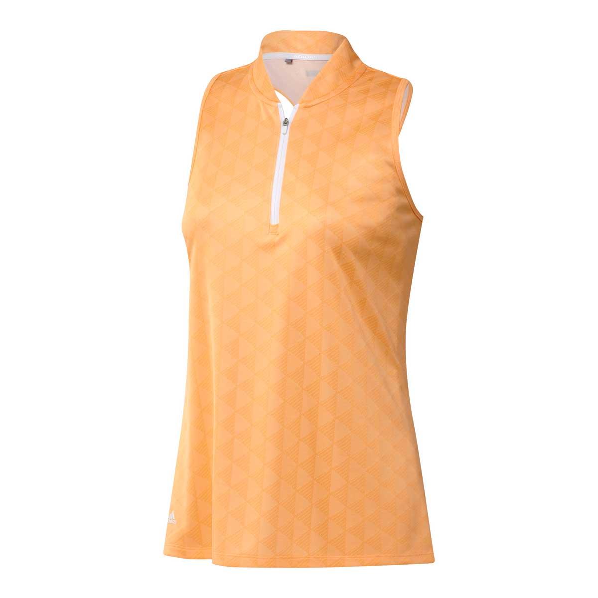 Adidas Women's Heat.RDY Racerback Sleeveless Acid Orange Polo