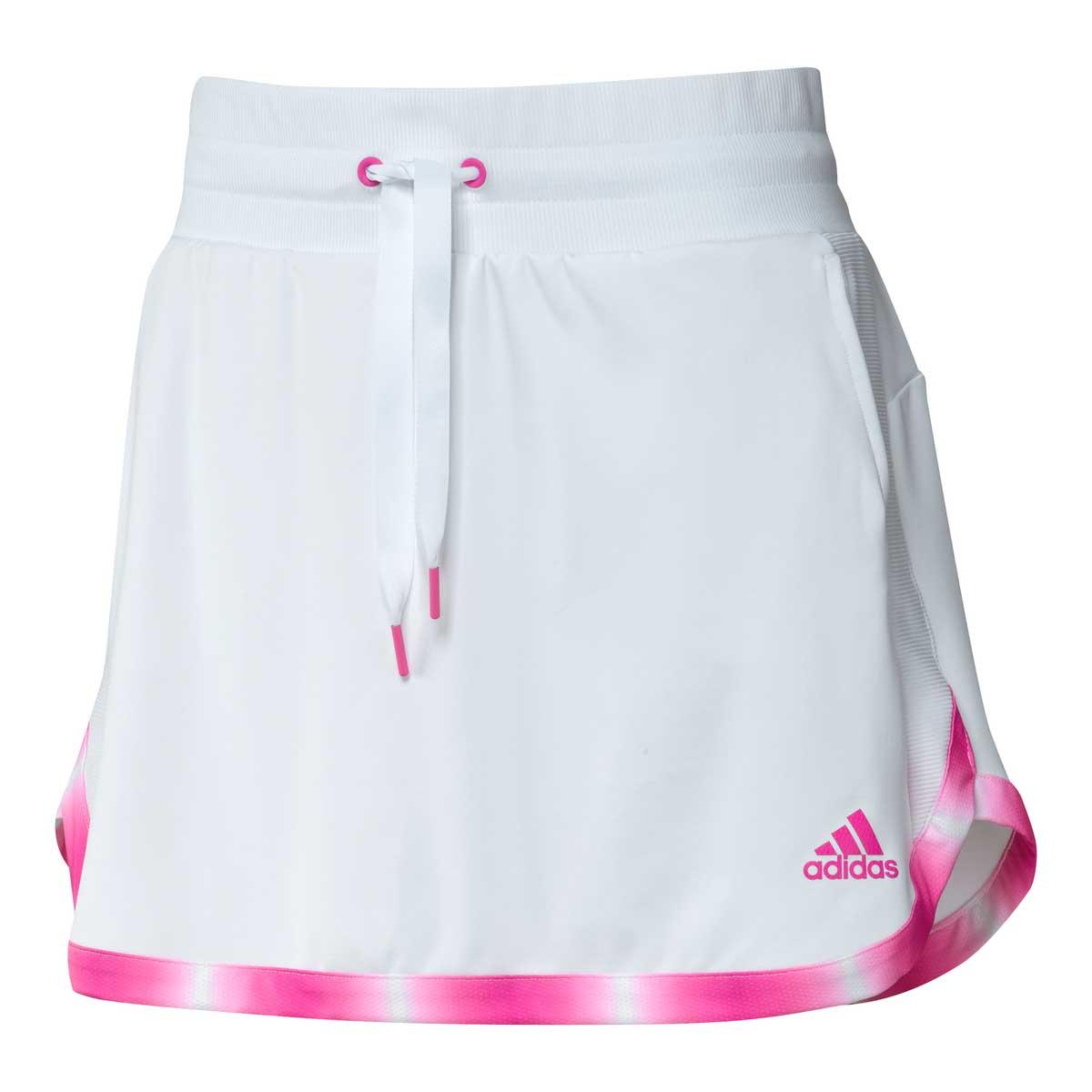 Adidas Women's 15 Inch White/Screaming Pink Gradient Skort