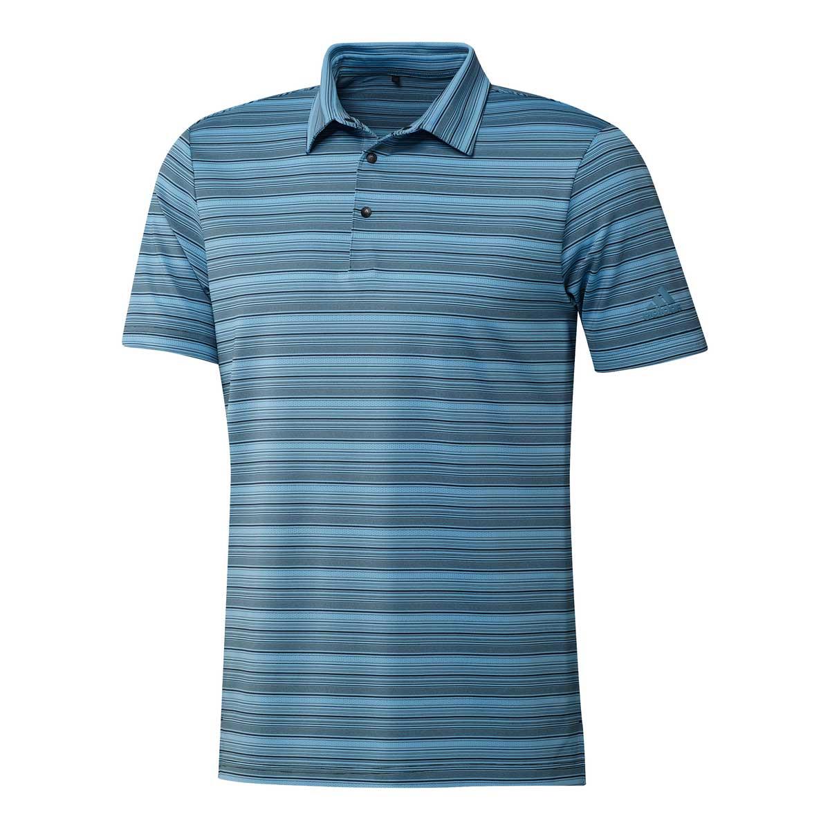 Adidas Men's Heather Snap Black/Hazy Blue Polo