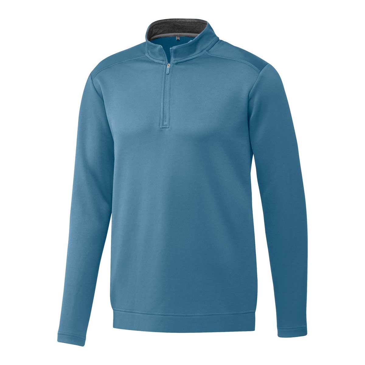Adidas Men's Club 1/4 Zip Hazy Blue Pullover