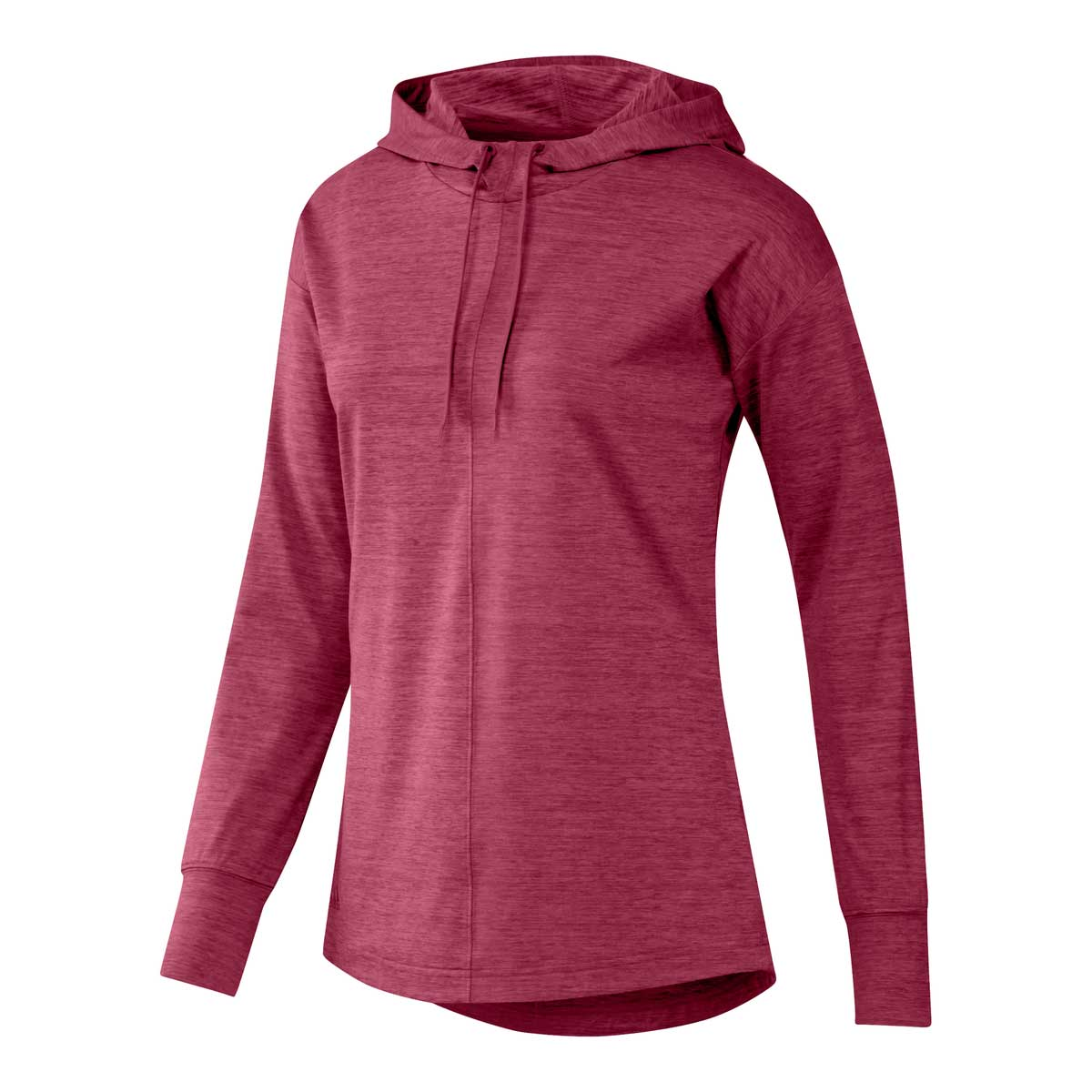 Adidas Women's Essentials Heathered Wild Pink Hoodie