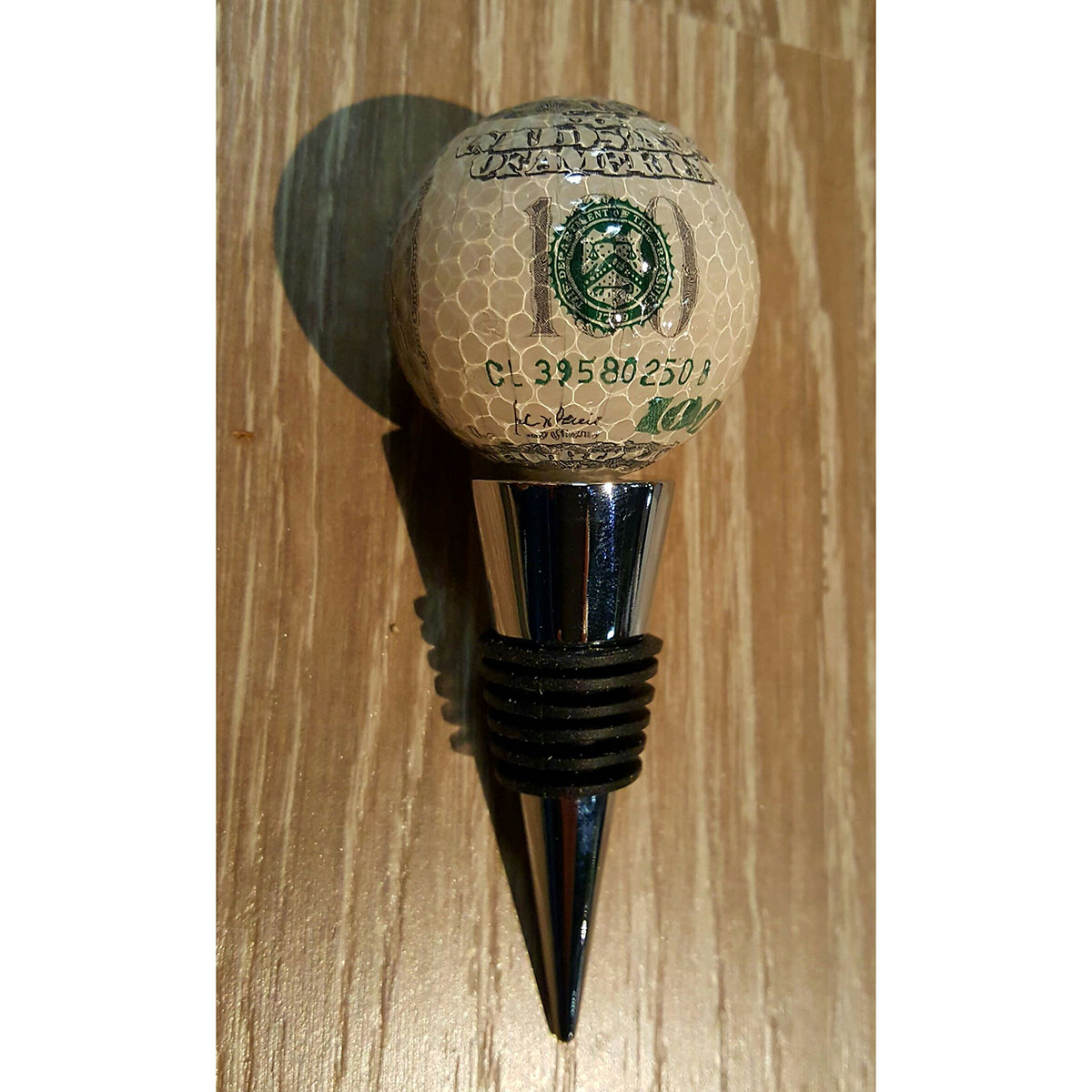 Golf Ball Wine Bottle Stopper Currency