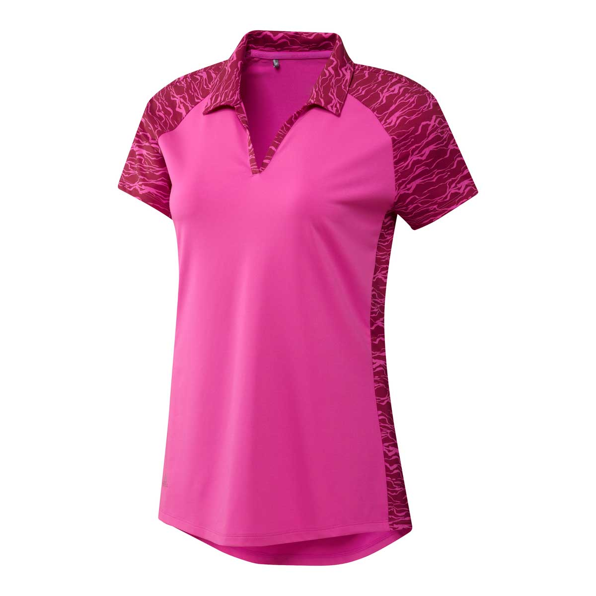 Adidas Women's Ultimate 365 Printed Screaming Pink Polo
