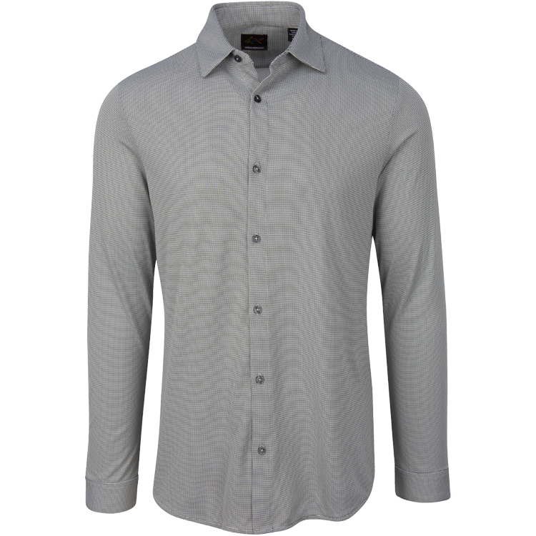 Greg Norman Mens Modern Heritage Knit Sport Shirt