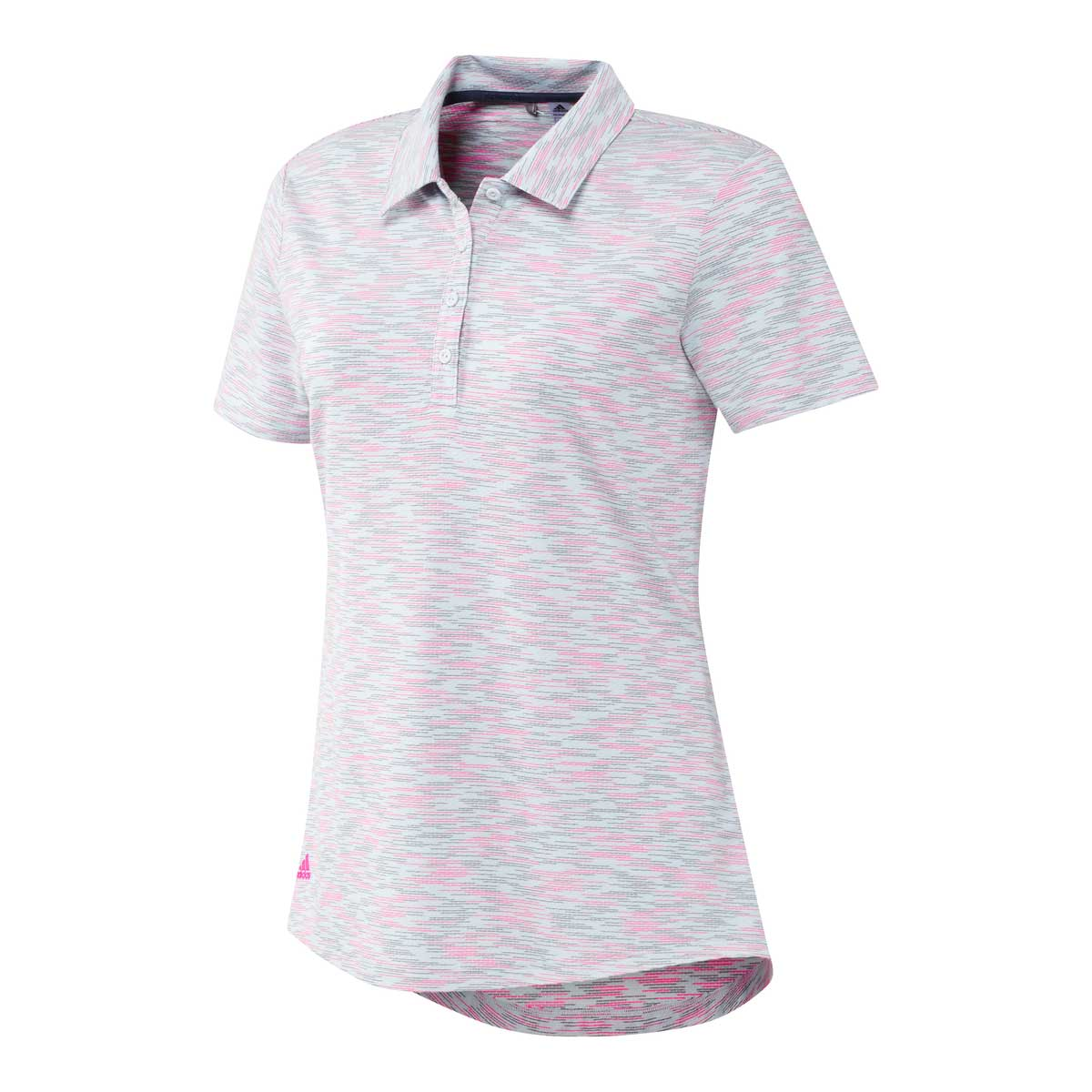 Adidas Women's Space Dye White/Screaming Pink Polo