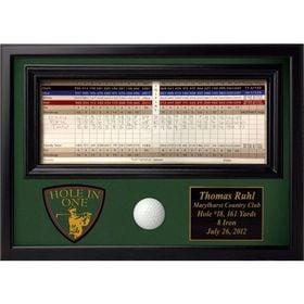 Hole in One  Ball & Scorecard Display