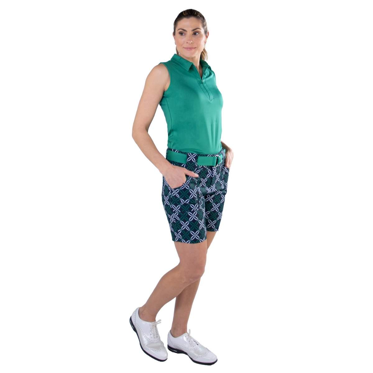 Jofit Women's Belted Appletini Golf Shorts