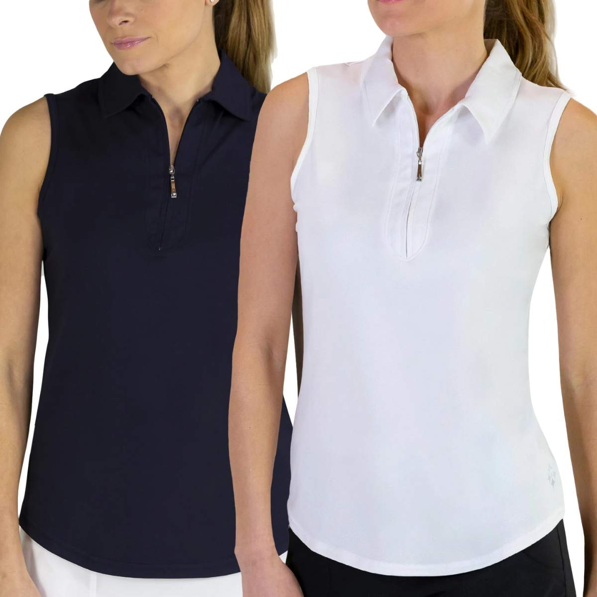 Jofit Women's Jaquard Sleeveless Golf Polo