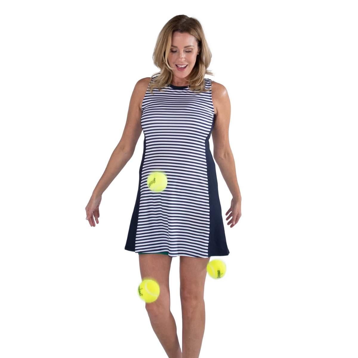 Jofit Women's Sleeveless Swing Stripe Dress