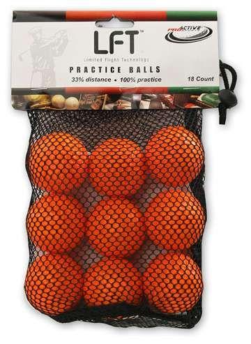 Limited Flight LFT Golf Practice Balls - 18 Pack