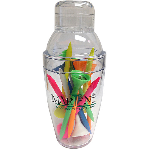 Martini Golf Tees Mini Shaker with 12 Tees